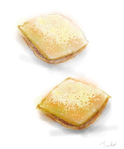 オレンジリコッタクリームの揚げパン